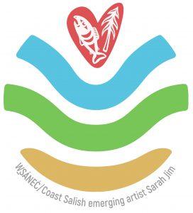WSANEC / Coast Salish artist Sarah Jim's United Nations Ecological Restoration logo